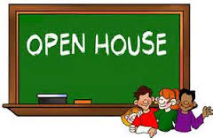 Preschool Open House BBQ blackboard kids